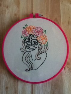 amazing work, if only my sewing would be as neat! Would love to do a day of the dead make-up cross-stitch :)