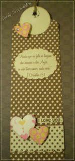 Candy Scrapbooking: Marca páginas Decorado
