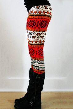 Stylish Elastic Waist Slimming Printed Women's Christmas LeggingsLeggings | RoseGal.com