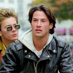 "Keanu Reeves and River Phoenix in ""My Own Private Idaho"" 1991 Keanu Reeves Young, Keanu Charles Reeves, I Movie, Movie Stars, The Modern Prometheus, Keanu Reaves, My Own Private Idaho, River Phoenix, Young Actors"