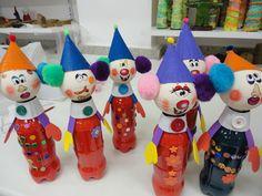 Knutselen 3d: clowns
