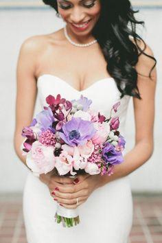 beautiful purple #wedding #bouquet