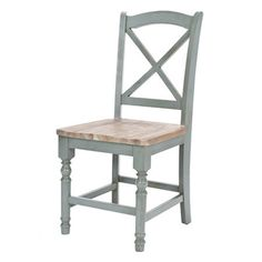 Set of two fir wood side chairs with X-backs.  Product: Set of 2 chairsConstruction Material: Fir woodCol...