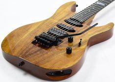 ESP USA M-III Koa Top Electric Guitar in Natural Gloss Finish Esp Guitars, Usa Customs, Floyd Rose, Seymour Duncan, Studio Gear, Body Figure, Guitar For Beginners, Security Lock, The Originals
