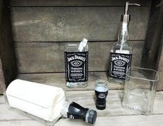 Jack Daniel's Bathroom Set 5 Pieces Made from by BottleRehab, $89.95
