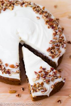 The best homemade Carrot Cake with Cream Cheese Frosting. Super-moist and easy!