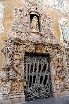The entrance to the Palacio del Marques de Dos Aguas in Valencia. Too much? Nooo, it's fine.