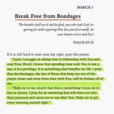 Break free from bondages. Bible Verses Quotes, Bible Scriptures, Faith Quotes, Gemini Quotes, Morning Prayers, Daily Devotional, Spiritual Quotes, Spiritual Prayers, Spiritual Inspiration