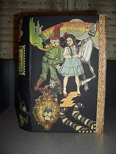 Faux book I made with Graphic 45 The Magic of Oz papers