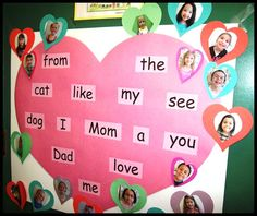 """Enjoy FREE AUDIO   of several engaging songs that teach high-frequency words. This poster celebrates each child's mastery of pink """"heart words."""" The posters  are positioned visually close to the large group instructional area. 32 """"heart word"""" songs are recorded on the """"Sing, Sign, Spell, and Read!"""" CD with accompanying """"I Can Read"""" pages and word/fingerspelling cards. Enjoy the magic of songs to accelerate language learning!"""