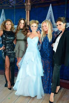 The Spice Girls reunite for Viva Forever musical launch night in London