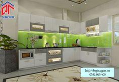 Thi công tủ bếp Acrylic tại Vũng Tàu - MTB13