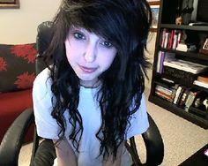 indie scene hair for curly hair | tumblr_mkjv0fEPye1s434o6o1_500.jpg Think Im getting this as my haircut  tomorrow.....?!