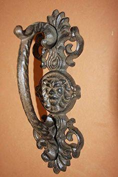1 X Cast Iron Antique Replica Fleur De Lis Drawer Pull Door Handle 6 34