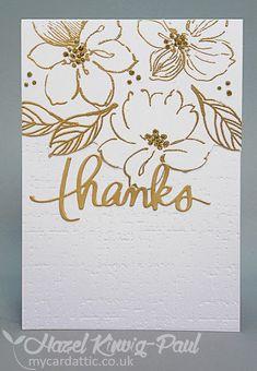 My Card Attic: Altenew Wild Hibiscus Thank You card