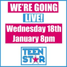 Myself and Dave Payne will be live tomorrow at 8pm on the TeenStar Facebook page for a Q&A about TeenStar 2017, please feel free to spread the word to singers and dancers you may know!