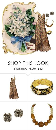 """""""1930s Gold Lame Dress"""" by jeanstapley ❤ liked on Polyvore"""