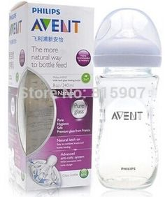 New Avent babies wide caliber native natural anti-flatulence 240ml glass bottle/feeding bottle