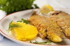 Opekaný pstruh s maslom - Recept pre každého kuchára, množstvo receptov pre… Polenta, Tasty, Fish, Meat, Chicken, Recipes, Caldo De Pollo, Seafood, Side Dishes