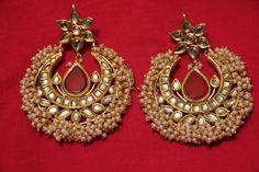 Perfect for the wedding season! pearl and kundan earrings price-5500/-