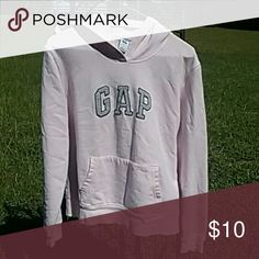 Gap Stretch Hoodie Size Large (12-14), lightly worn. In good condition. Pink , gray and blue in color. GAP Shirts & Tops Sweatshirts & Hoodies