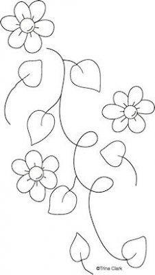 Mothers Flowers 2h Country Line Art Pattern