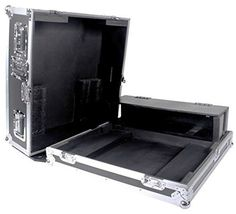 DEEJAY LED TBHAHQU24DHW Fly Drive Case For Allen & Heath QU24 Mixer with DJ Dog House & Casters