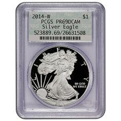 Pre Order 2014-W Silver American Eagle PR69 DCAM FS PCGS Vintage Doily Label