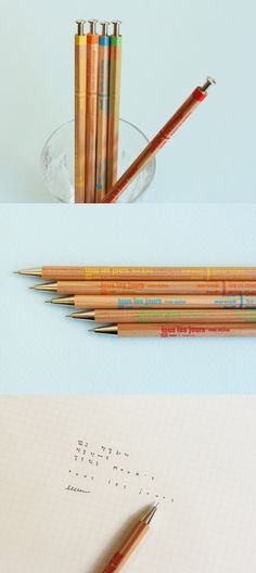 This cute wood pen will brighten up your everyday life! It even shows activity ideas for each day of the week! How fun~ ^_^