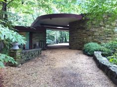 Dudley Spencer House. Wilmington, Delaware. 1956. Frank Lloyd Wright. Usonian Style.