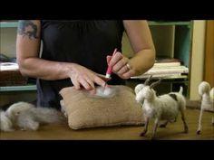▶ Needle Felting Tutorial - Sarafina Fiber Art Goat Series 6: Pelt - YouTube