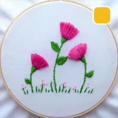 Hand Embroidery Patterns Flowers, Hand Embroidery Videos, Embroidery Stitches Tutorial, Embroidery Flowers Pattern, Sewing Stitches, Hand Embroidery Designs, Machine Embroidery Patterns, Embroidery Ideas, Diy Embroidery For Beginners