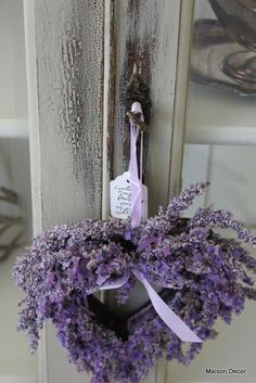 Lavender heart! My sister gave me this when I bought my house. Loved it.