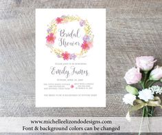 A personal favorite from my Etsy shop https://www.etsy.com/listing/249338857/printable-bridal-shower-invitations