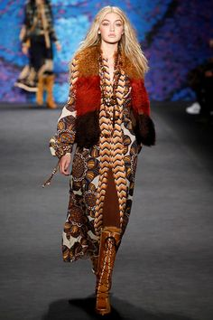 Dolce & Gabbana - Alta Moda Spring/Summer 2015 Couture Gigi Hadid opening for Anna Sui - Autumn/Winter New York Fashion Week New York Fashion, High Fashion, Fashion Show, Fashion Design, London Fashion, Fashion Tips, Gigi Hadid Runway, Anna Sui Fashion, Gigi Hadid Style
