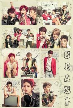 J-4558 B2st South Korean Boy Band, Beast, K-pop Poster#2- Rare New - Image Print Photo $8.99