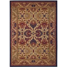 Couristan #Rugs: Anatolia Royal Plume Rug in Navy/Port Wine