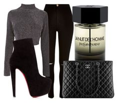 WHATEVER. by lucieednie on Polyvore featuring polyvore fashion style River Island Christian Louboutin Yves Saint Laurent Chanel clothing