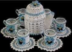 Picture of Teatime Candle Doily Set Crochet Pattern