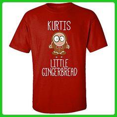 Kurtis Little Gingerbread Christmas - Adult Shirt S Red - Holiday and seasonal shirts (*Amazon Partner-Link)