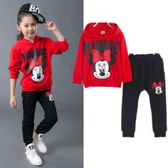 Minnie Baby Girls Clothes Sets 2016 Mickey Cartoon Autumn Cotton Casual Tracksuits Children Kids Clothing Sports Suit 2pc Set #>=#>=#>=#>=#> Click on the pin to check out discount price, color, size, shipping, etc. Save and like it!