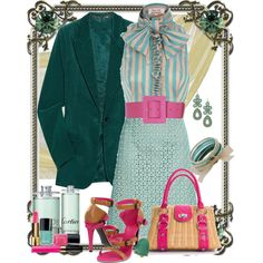 nothing else, created by justirena on Polyvore featuring the Stella & Dot - Capri Chandelier Earrings in Turquoise