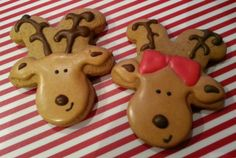 Gingerbread Men Cookie Cutters Also Make The Cutest Reindeer Cookies