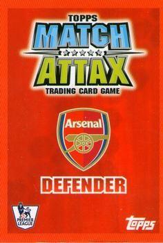2007-08 Topps Premier League Match Attax #4 Gael Clichy Back