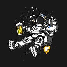 Shop Astronaut Drinking Beer astronaut beer t-shirts designed by underheaven as well as other astronaut beer merchandise at TeePublic. Trippy Alien, Space Astronauts, Disney Decals, Beer Art, Aliens, Mars, Science Fiction, Drinking, Doodles