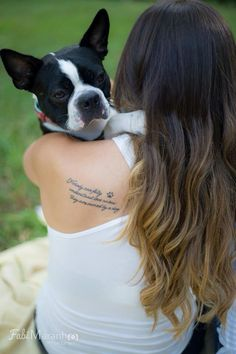 """Nobody can fully understand love unless they are owned by a dog."" Dog Tattoo"