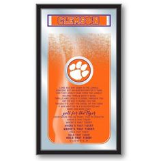 Clemson Tigers Fight Song Mirror at SportsFansPlus.com. Visit website for bonus coupon!