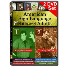 American Sign Language for Kids and Adults, Vol. 1-2 - Complete Set - 2 DVDs | Everyday ASL Productions, Ltd.