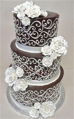 Wedding Cakes by Celebrity Cake Studio, ... | Brown Cakes