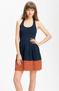 French Connection Colorblock Halter Dress available at Nordstrom